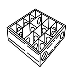 wooden hamster maze fun icon doodle hand drawn vector image