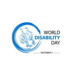 world disability day concept vector image