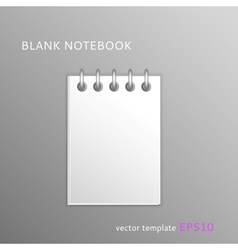 Blank paper notebook vector image vector image