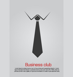 flat of necktie with white collar vector image