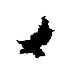 outline map of pakistan vector image vector image