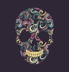 Skull Swirl Ornamental vector image