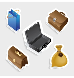 Sticker icon set for bags vector image vector image