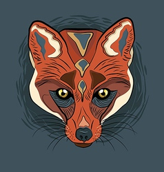 Artistic Fox face vector image vector image