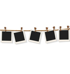 Blank photo frames on line vector image vector image