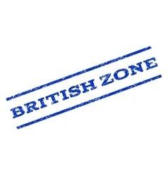 British zone watermark stamp vector