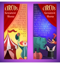 Circus banner vertical vector image