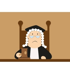Judge passes verdict in the courtroom vector image vector image