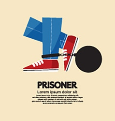 Prisoners Iron Ball vector image vector image