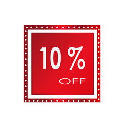 sale 10 off banner design over a white vector image