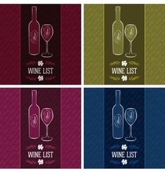 set of templates for cover menus and wine vector image
