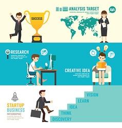 Startup Business design concept people set vector image vector image