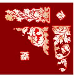baroque clip-art vector image vector image