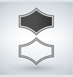 black and white genuine quality badge isolated vector image