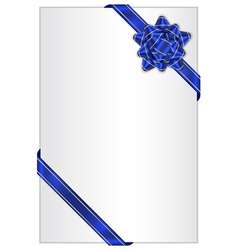 gift background with blue bow vector image