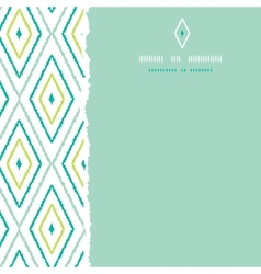 Green ikat diamonds square torn seamless patterns vector image vector image