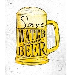 Poster drink beer vector image vector image