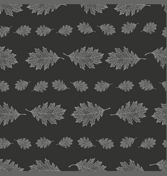 seamless pattern from the snowy leaves of red oak vector image vector image