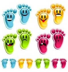smiley feet vector image vector image