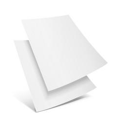 two blank paper leaflet flyer broadsheet flier vector image