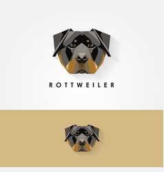 3d low polygon rottweiler vector