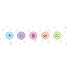 5 senior icons vector