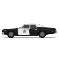 70s police car vector