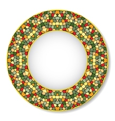 A bright dish with mosaic pattern vector image