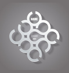 Abstract infographics design with circles vector