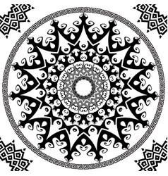 ancient round greek mandalas seamless pattern vector image