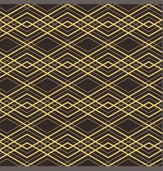 art deco seamless vintage decorative gold vector image
