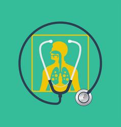 Asthma logo design template vector