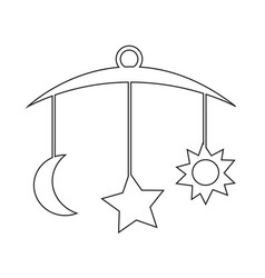 baby hanging icon vector image