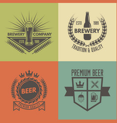 beer and brewery isolated monochrome labels vector image
