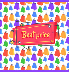 Best price advert banner seamless pattern shopping vector