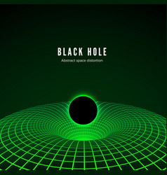 Black hole visualisation deformation time and vector