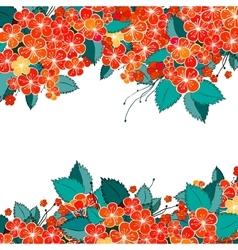 Blossom red flower background vector image