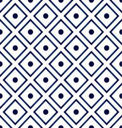 Blue ceramic pattern vector