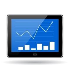 Business statistics graph vector