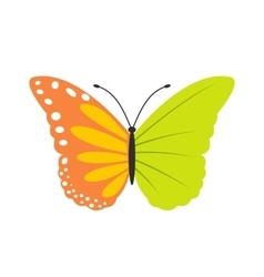 Butterfly ecology flat icon vector