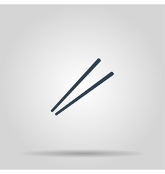 Chopsticks flat icon for food apps and websites vector image