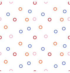 circle pattern on white background vector image