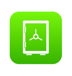 closed safe icon digital green vector image
