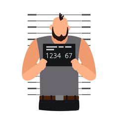 Criminal man photo vector