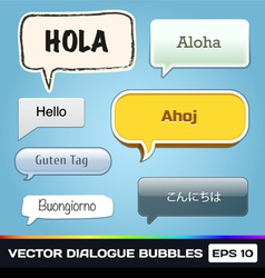 Dialogue Bubbles vector image