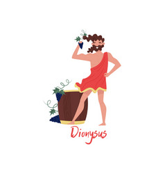 Dionysus olympian greek god ancient greece myths vector