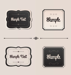 Elegant frames and menu invitation design elements vector image