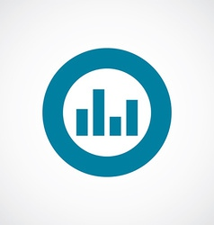 equalizer icon bold blue circle border vector image