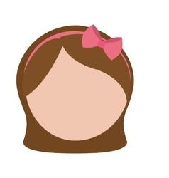 Faceless woman icon image vector