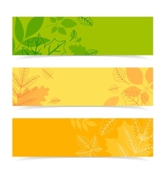 Fall leaves pattern in three colors vector image